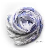 Сиреневый шелковый шарф батик