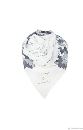 Шелковый платок батик ручной работы на заказ