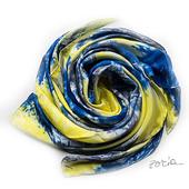 Синий шелковый платок батик