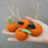 Сувенир Вязаная мандаринка
