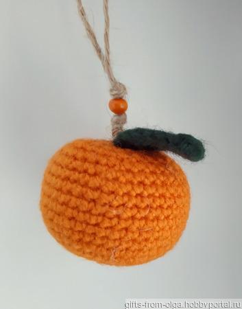Сувенир Вязаная мандаринка ручной работы на заказ