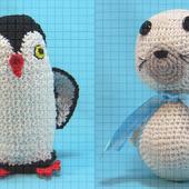 Набор вязаных мягких игрушек «Пингвин и Белёк»
