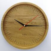 Часы настенные из дуба ЧД2
