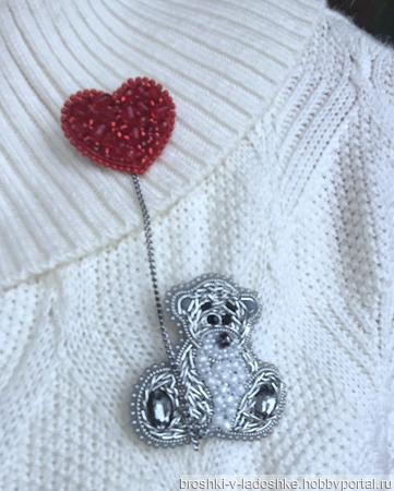"""Сет """"Медвежонок с сердечком"""" ручной работы на заказ"""