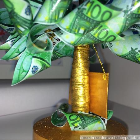 """Денежное дерево """"100€"""" ручной работы на заказ"""