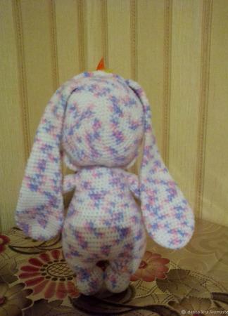 Пупсик в костюме зайки (вязаная игрушка) ручной работы на заказ