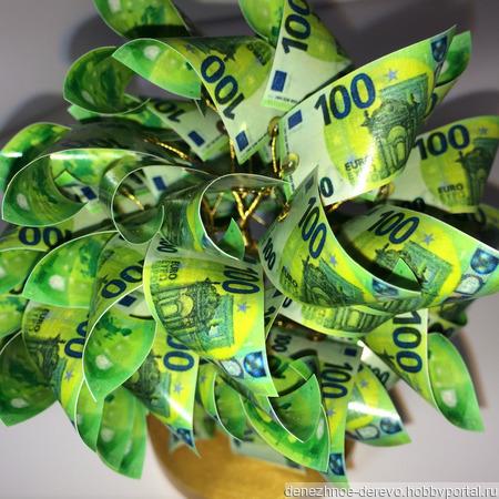 """Дерево денежное """"100€"""" ручной работы на заказ"""