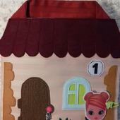 Домик-сумочка для одной куклы