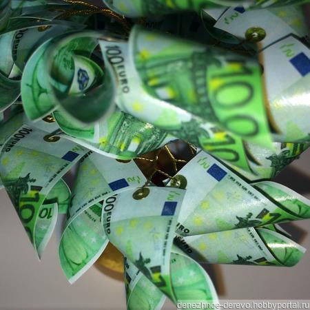 """Денежное дерево """"100 EUR"""" ручной работы на заказ"""