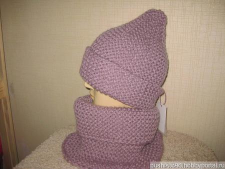 Комплект - шапка и снуд из толстой пряжи ручной работы на заказ