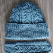 Комплект - шапка+варежки