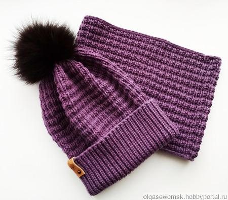 Комплект - шапка  и снуд ручной работы на заказ