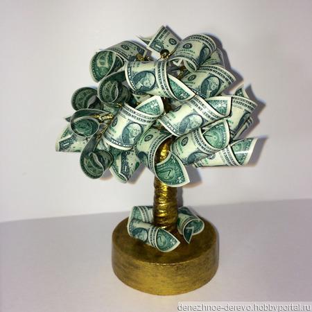 """Денежное дерево """"1$"""" ручной работы на заказ"""
