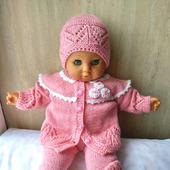 """Вязаный комплект одежды для малышки """"Розовое чудо"""""""