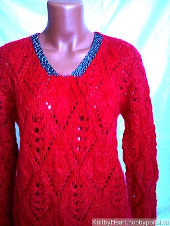 Вязаный свитер из кид-мохера ручной работы на заказ