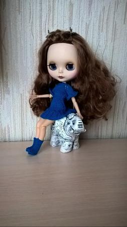 """Платье для куклы """"Летняя радуга"""" ручной работы на заказ"""