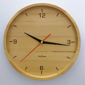 Часы настенные из бука. ЧБ3