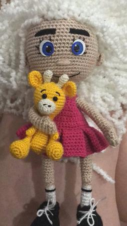 Кукла крючком Бела ручной работы на заказ