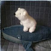 Медведь полярный вязаный