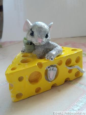 """Молд """"Мышка в сыре"""" ручной работы на заказ"""