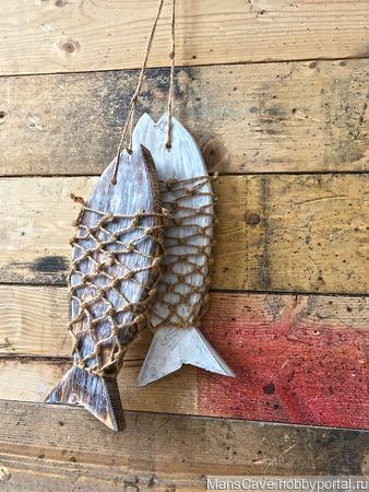 """Интерьерное украшение """"Сушеные рыбки"""" ручной работы на заказ"""