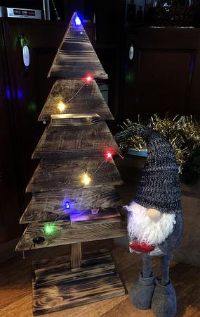 """Новогодняя деревянная елка """"Винтаж"""" ручной работы на заказ"""
