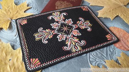 Обложка для паспорта ручной работы на заказ