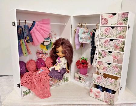 """Игровой PlayBox для кукол """"Гардеробная"""" ручной работы на заказ"""