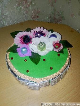 Торт из конфет ручной работы на заказ