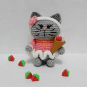 Мягкие игрушки: Котенок на ладошке