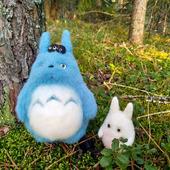 Войлочная игрушка:  лесные духи Тоторо