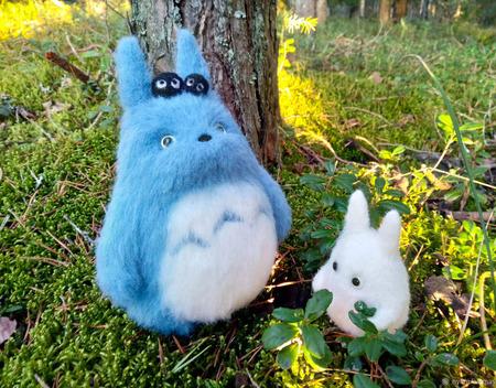 Войлочная игрушка:  лесные духи Тоторо ручной работы на заказ