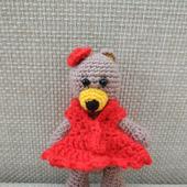 Мишка в красном платье