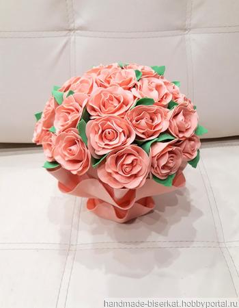 """Светильник """"Чайные розы"""" из фоамирана ручной работы на заказ"""