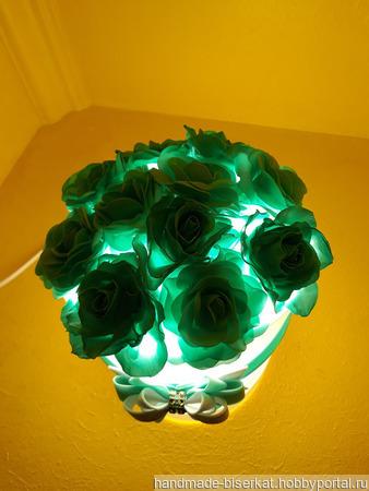 """Ночник """"Розы в шляпной коробке"""" ручной работы на заказ"""