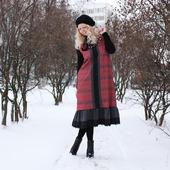 Зимнее платье-сарафан миди
