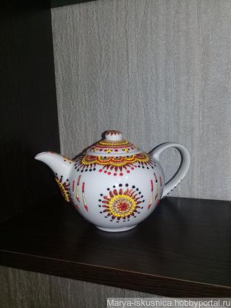 """Чайник """"Солнышко в руках"""" ручной работы на заказ"""