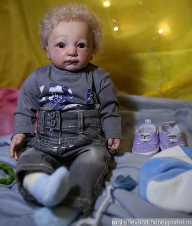 Коллекционная кукла - стильный мальчуган ручной работы на заказ
