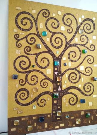 """Картина """"Дерево Счастья"""" ручной работы на заказ"""