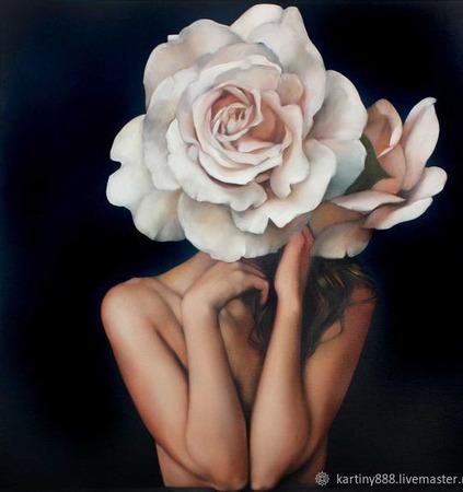 """Картина """"Нежность Розы"""" ручной работы на заказ"""