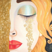 """Картина маслом """"Golden tears"""""""