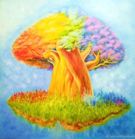 """Картина """"Волшебное дерево"""" ручной работы на заказ"""