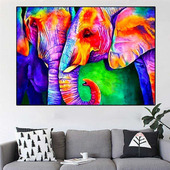 """Картина """"Цветные слоны"""""""