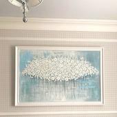 """Картина в спальню """"Белые цветы"""""""