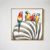 """Картина """"Попугаи и зебра"""""""