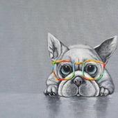 """Картина с собакой """"Я тебя вижу"""""""