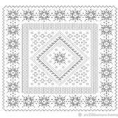 """Схема вязания платка """"Каменный цветок"""""""