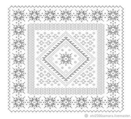 """Схема вязания платка """"Каменный цветок"""" ручной работы на заказ"""