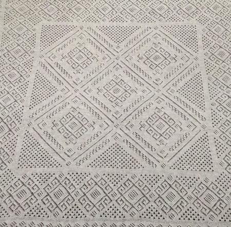 """Схема для вязания - платок оренбургский """"Серебряное копытце"""" ручной работы на заказ"""