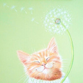 """Картина с котом """"Настроение"""""""